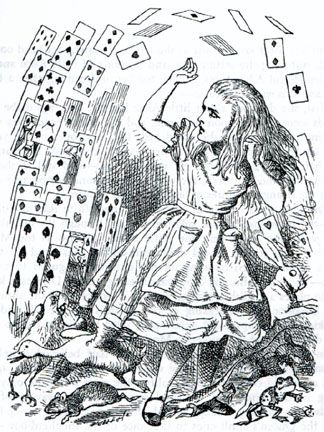 Alice in Wonderland, by Lewis Carroll.