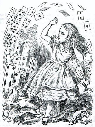 Alice in Wonderland, by Lewis Carroll.