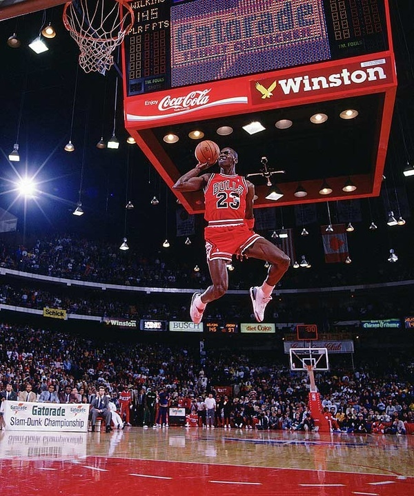 Michael Jordan Leaps From The Free Throw Line For A Perfect Score Dunk In 1988 NBA Slam Contest SI GALLERY SIs 100 Best Photos