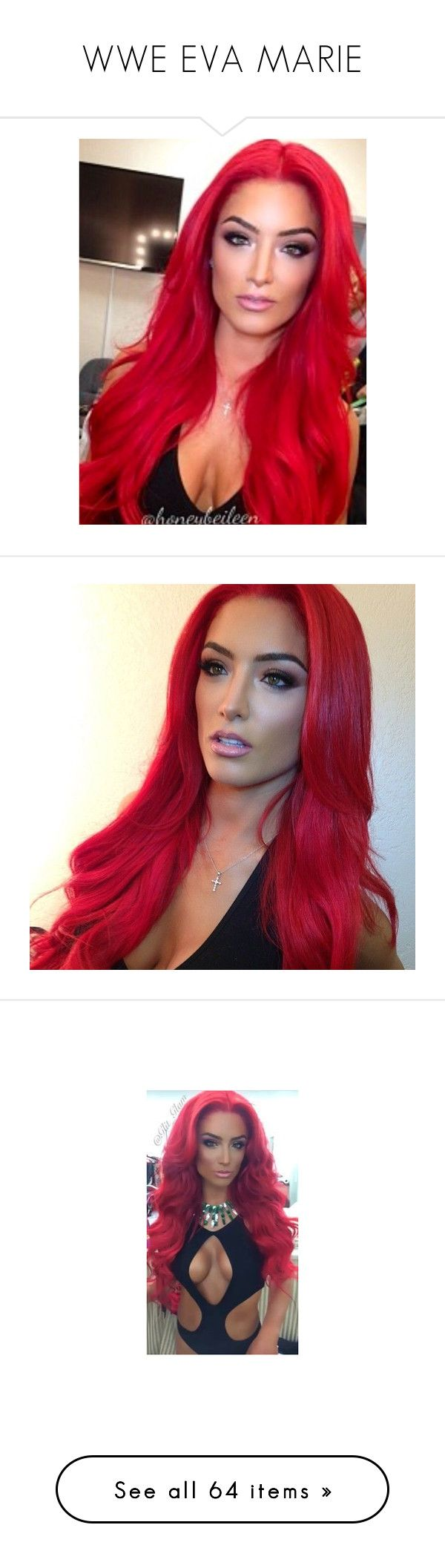 """WWE EVA MARIE"" by adelaida0912 ❤ liked on Polyvore featuring hair, eva marie, wwe, pictures, wrestling, divas and people"
