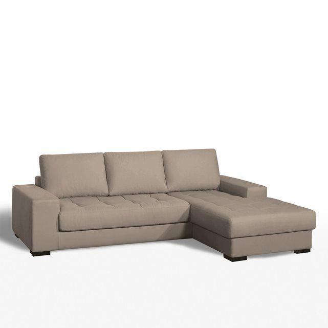 Canapé d'angle Arlon, convertible confort excellence, coton demi-natté. Une assise capitonnée, un style irrésistible. 100% coton demi natté : belle qualité, épaisse, lourde et résistante. Fabrication française.Dimensions du canapé d'angle Arlon, convertible, coton demi-natté :Longueur : 243 cmHauteur : 81 cmProfondeur : 173 cmAssise : L189 x H46 x P57 cmCouchage : 115 cm x 185 cmDescription du canapé d'angle Arlon, convertible, coton demi-natté :Composé d'un grand canapé (L243 cm), d'un…