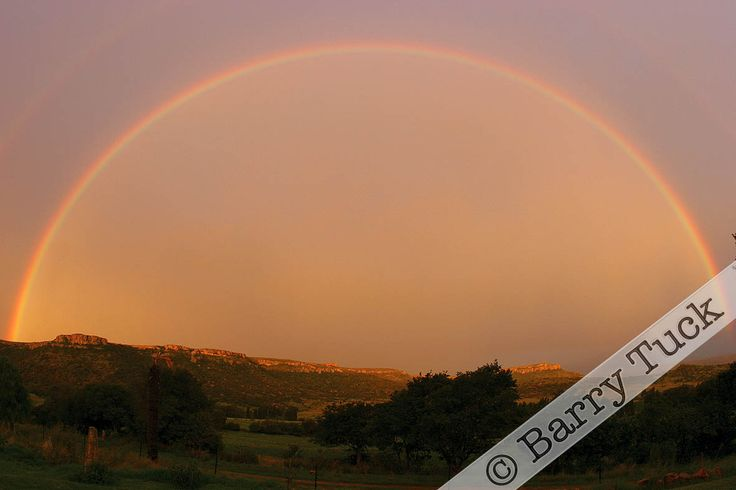 Rainbow over the Lesotho capital of Maseru, photographed from Ladybrand. © Barry Tuck