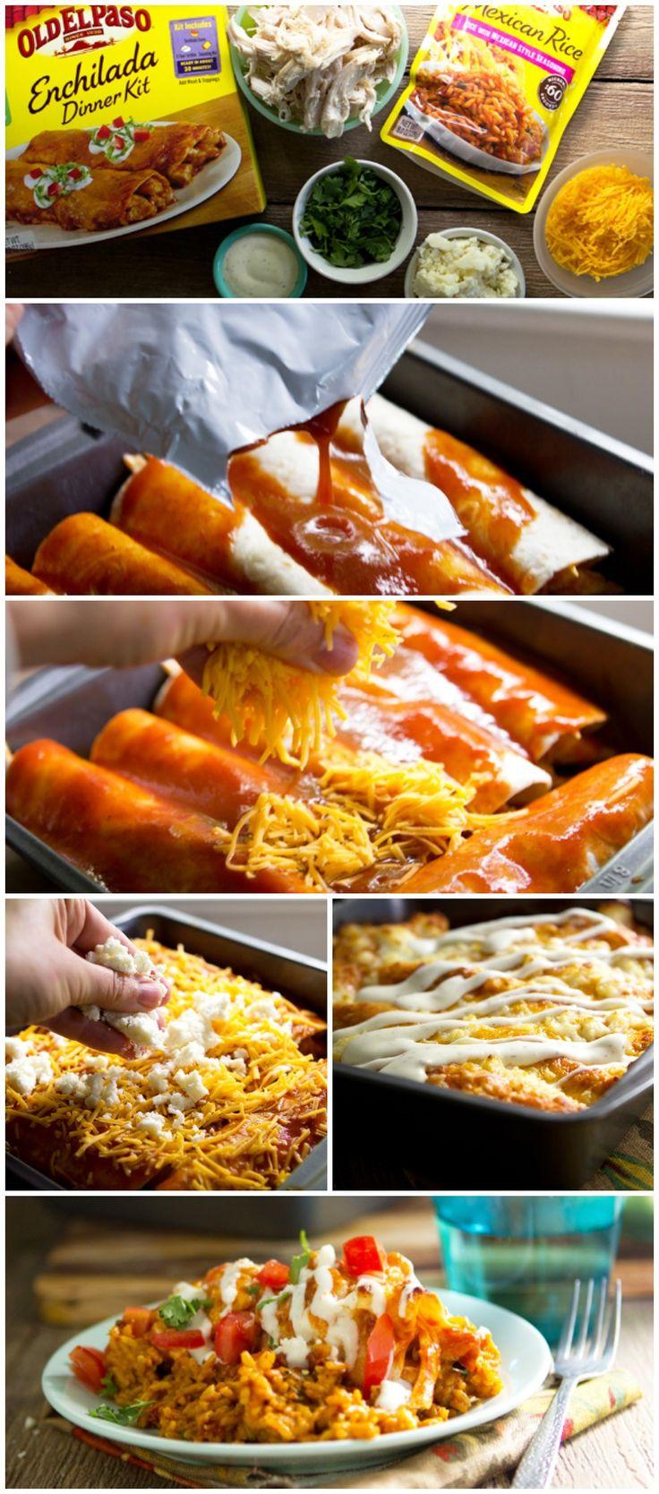 Ranch Chicken Enchiladas #oldelpaso