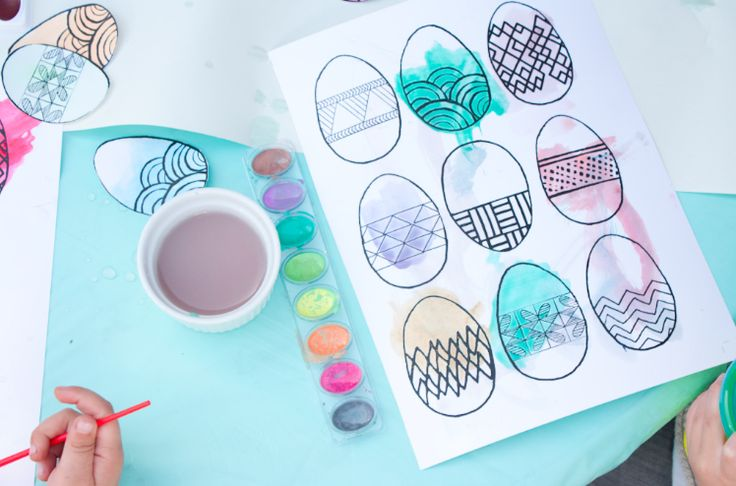 Easter egg printables to paint