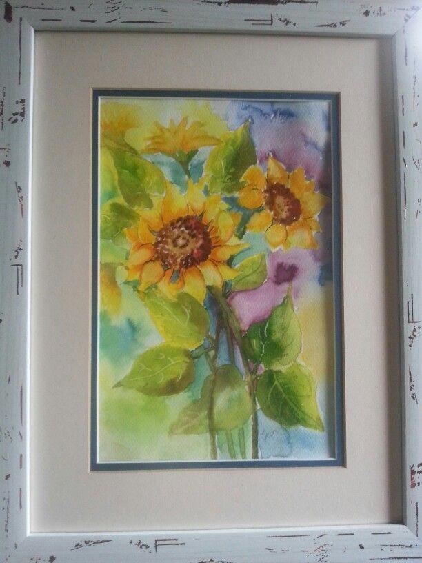 Sunflowers - watercolour