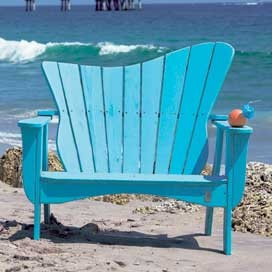 ...to be sitting on this aqua wave chair on the beach