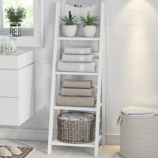 Dieses Badezimmer Set In Form Einer Leiter Ist Aus Lackiertem Holzwerkstoff Gefertigt Es Kann Entweder An Die Wand Gelehnt Oder Freistehend Verwendet Werden B In 2020