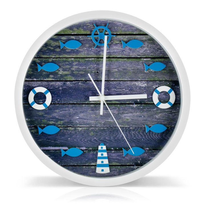 Quarzuhr Wanduhr Vintage Meer Holz Design Quarzuhr Wand Mode Uhren Segel Fische • EUR 22,95 - PicClick DE