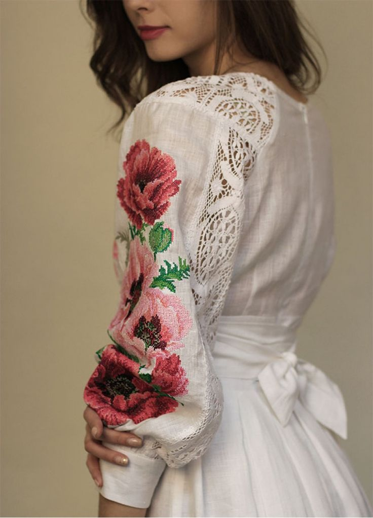 Легкое белое платье в пол с нежной вышивкой ПЛ-770360