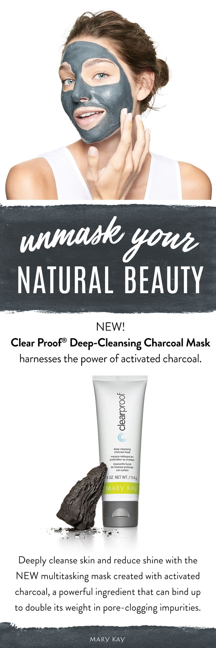 Our deep-cleansing mask uses the power of charcoal to help unclog pores and take skin beyond everyday clean. As a result, your complexion looks clearer and healthier, and pores appear minimized. | Mary Kay