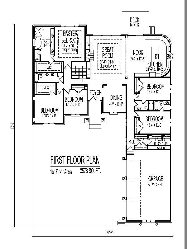 Story 4 Bedroom House Plans House Plans Pinterest 4 Bedroom