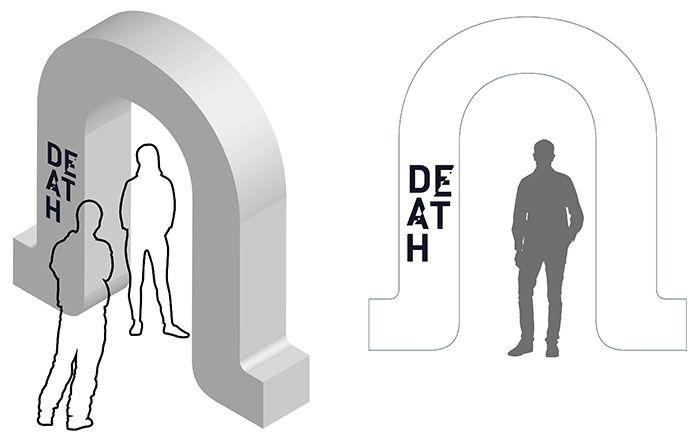 Death exhibition: entrance arch