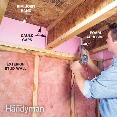 How to Finish a Basement: Framing and Insulating ( Lay out stud locations by laying both plates side by side and then hook your tape measure on one end and mark studs every 16 in. For walls longer than 8 ft., subtract 3/4 in. from each location (e.g., 15-1/4, 31-1/4 in., etc.). That's so drywall will fall in the center of studs. Otherwise, the sheets will fall just short of a stud at each joint.)