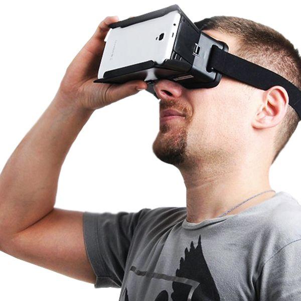 ColorCross Virtual Reality 3D Bril inclusief Magneet  Met de nieuwe ColorCross Virtual Reality Bril en uw eigen smartphone kunt u nu heel eenvoudig in de wereld van 3D stappen! Speel spectaculaire Virtual Reality games bekijk de nieuwste 3D films en ervaar spannende 360-belevenissen. Het is alsof u er zelf middenin staat!De ColorCross 3D VR bril heeft een maximale breedte van 165 cm en een maximale hoogte van 85 cm. De VR-bril is geschikt voor de meeste smartphones met een schermgrootte van…