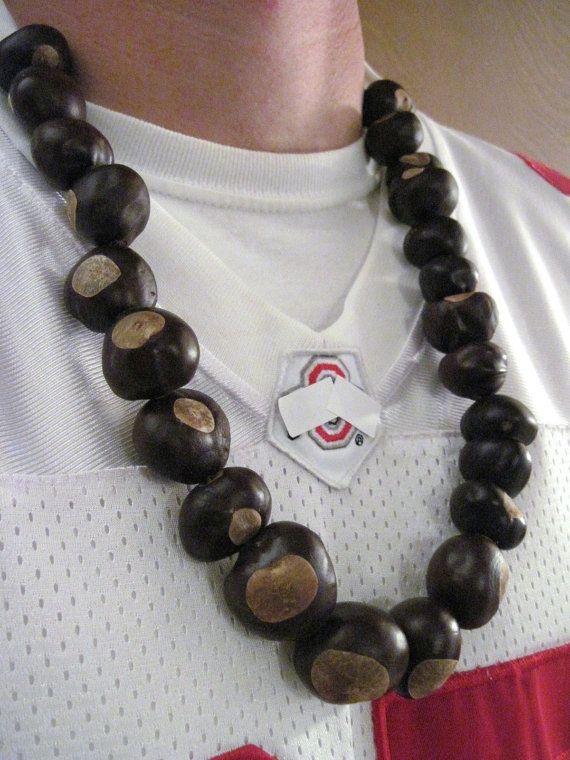 Ohio Buckeye Necklace All Real OHIO Buckeyes by thebuckeyelady