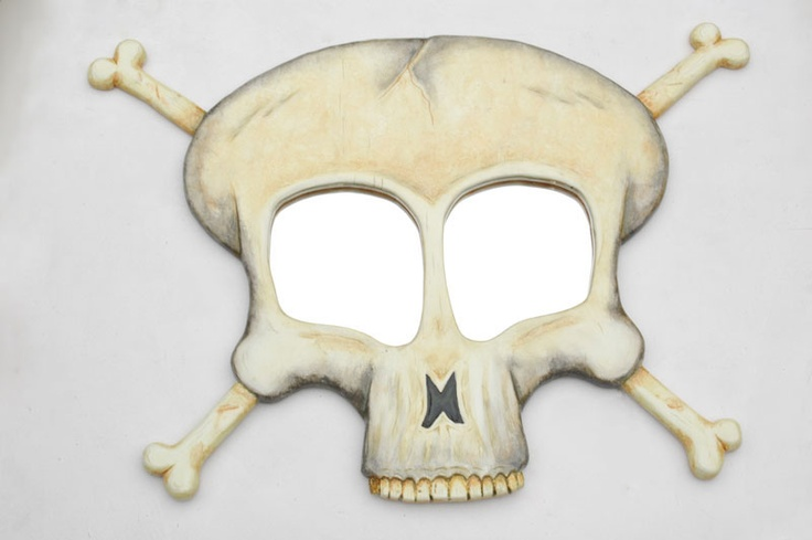 Decorative Skull Mirror, wall Mirror art for on your wall. Sculptural Modern Wall Mirror.