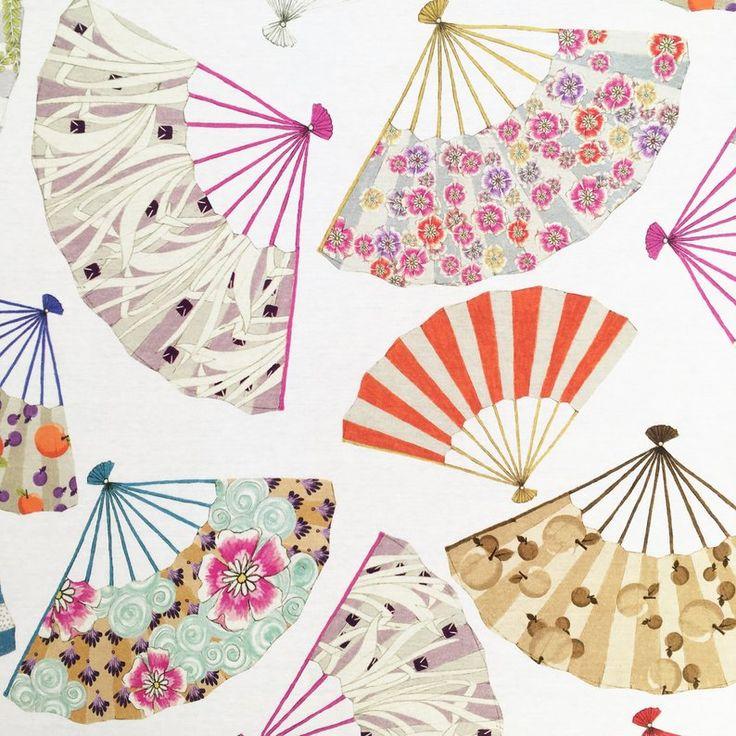 Sale 100/% Japanese Cotton Fabric Nutex Hanataba Floral Flower Scrolls Hibiscus