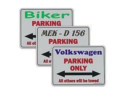 Parking only Parkplatzschilder