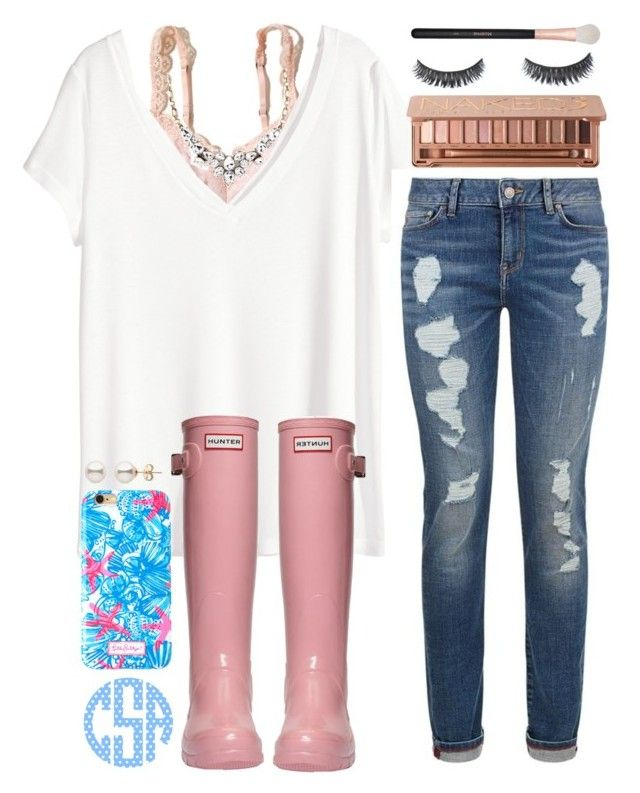 """"" by sophie-dye ❤ liked on Polyvore featuring Hollister Co., H&M, Tommy Hilfiger, Hunter, Lilly Pulitzer, Urban Decay, Old Navy and Morphe"