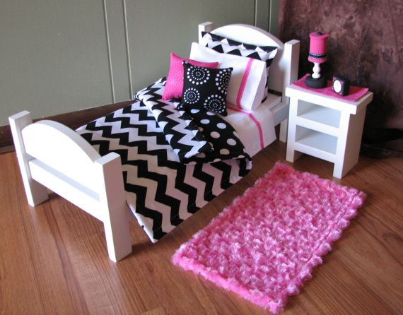 American Girl sized / 18 doll Bedroom by MadiGraceDesigns on Etsy, $42.00