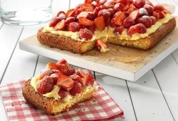 Aardbeienplaattaart