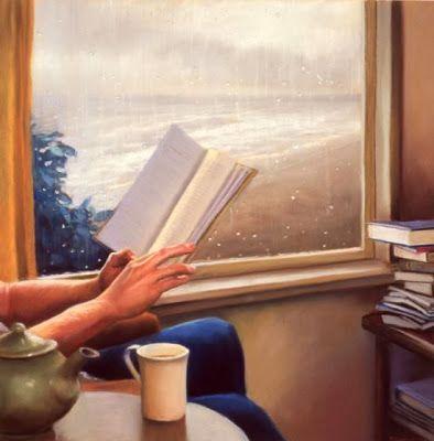 Rainy days  Deborah DeWit born March 28, 1956 in Portland (Oregon), USA  http://www.deborahdewit.com/paintings/