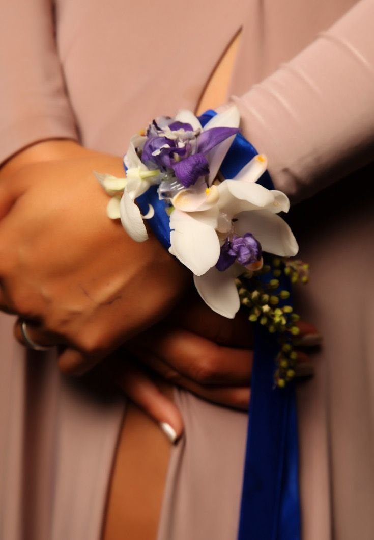 Waiheke Ball 2015. Stunning corsage! www.whitedoor.co.nz