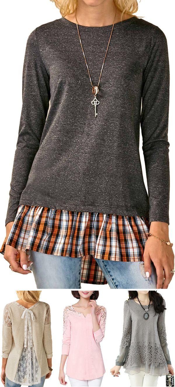 cute long sleeve tops for women, cute long sleeve blouses for women, cute tops