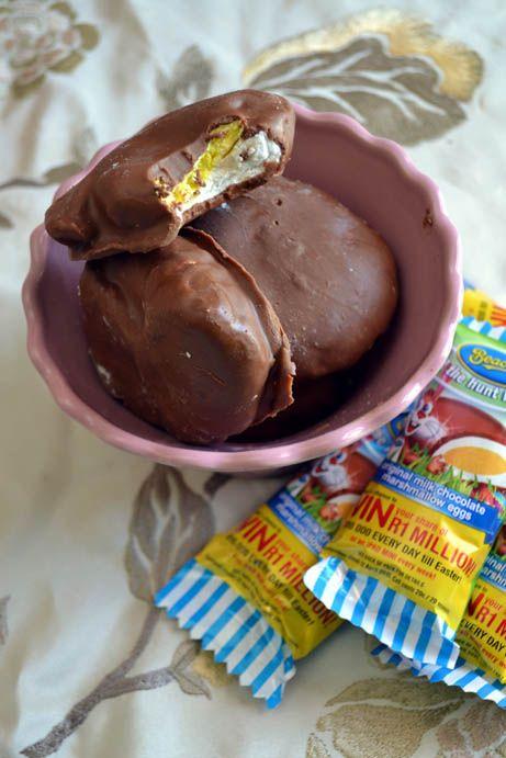 easy, easter, treats, homemade, marshmallow, recipe, no corn syrup, egg free, delicious, chocolate covered marshmallow easter eggs, rumtumtiggs, tami magnin