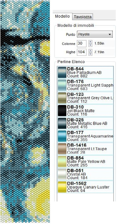 P@tty Perline: Pattern Peyote---Starry Night