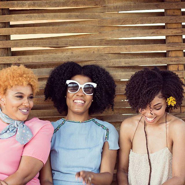 @thecoilycurator magazine's, Beutiful ladies in their Le Mouton Bleu outfits 🎈🎉🌺