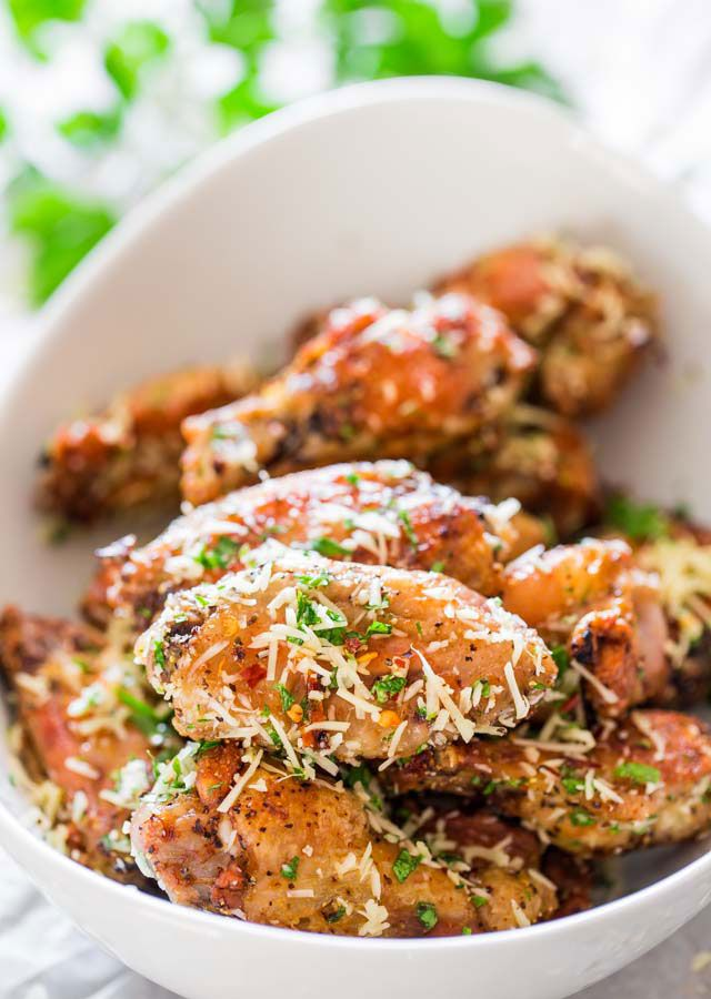 Crispy Baked Parmesan Chicken Wings FoodBlogs.com