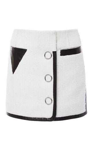 Slubbed Tweed Triangle Pocket Mini Skirt by ALEXANDER WANG for Preorder on Moda Operandi