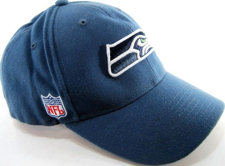 Reebok Seattle Sea Hawks Men Baseball Cap One Size Fits Blue NFL  #Reebok #SeattleSeahawks