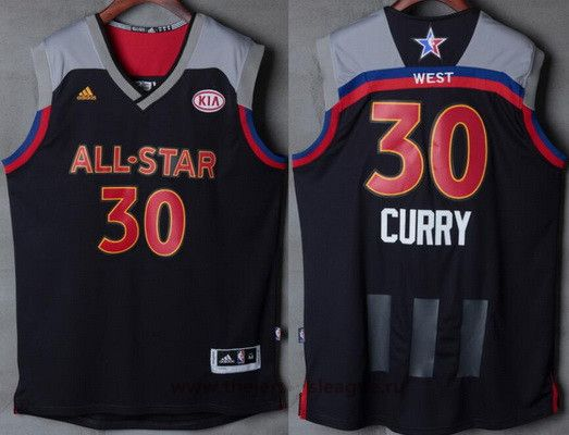 Men's Western Conference Golden State Warriors #30 Stephen Curry adidas Black ll stare jersey 2017