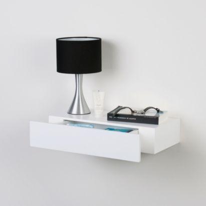 Bq Chunky Floating Shelf With Drawer White 5397007011463 Bedside Table Bedroom Makeover In 2018 Pinterest Shelves