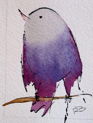 Watercolor Birds by Richard McKey.
