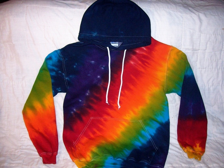 Tie Dye Pullover Hoodie in Custom Colors -- Christmas Sale. $40.80, via Etsy.