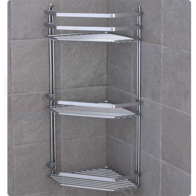 Chrome Satina Hanging Rectangle Corner Shower Caddy