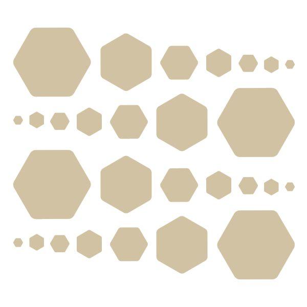 Beige Hexagon Vinyl Wall Decals #stickers #decals #decalvenue