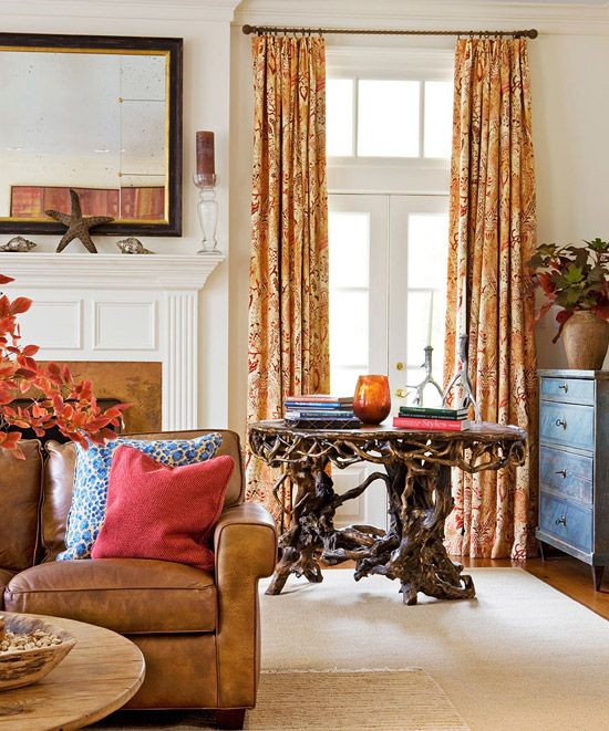 What A Cool Gnarly Wood Table!   Traditional Home ® / Photo: Gordon Beall