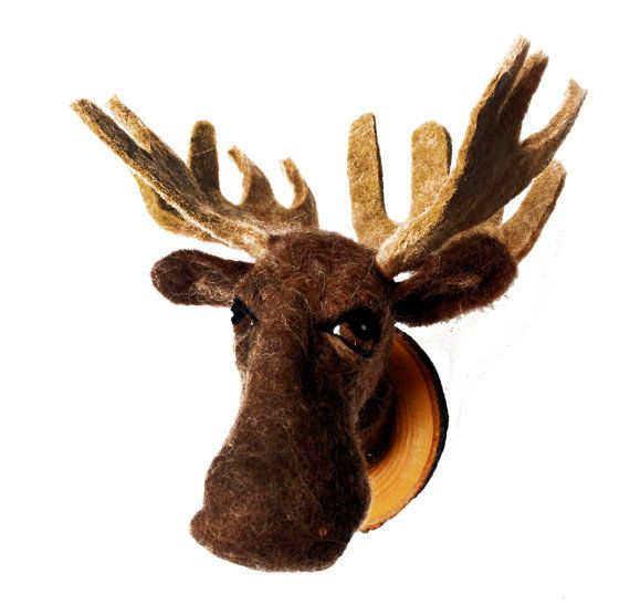 17 best images about george on pinterest faux taxidermy deer and knitting needles - Fake stuffed moose head ...