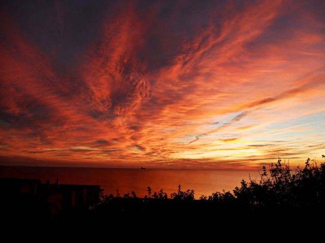 Fiery Sunset Over Cadiz, Spain