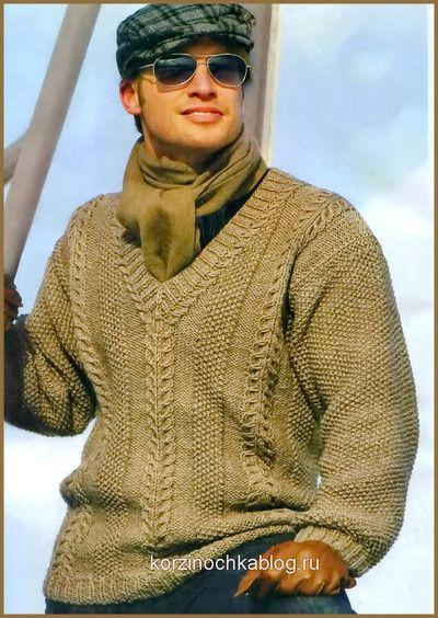 Мужской пуловер cV-образным вырезом. Обсуждение на LiveInternet - Российский Сервис Онлайн-Дневников