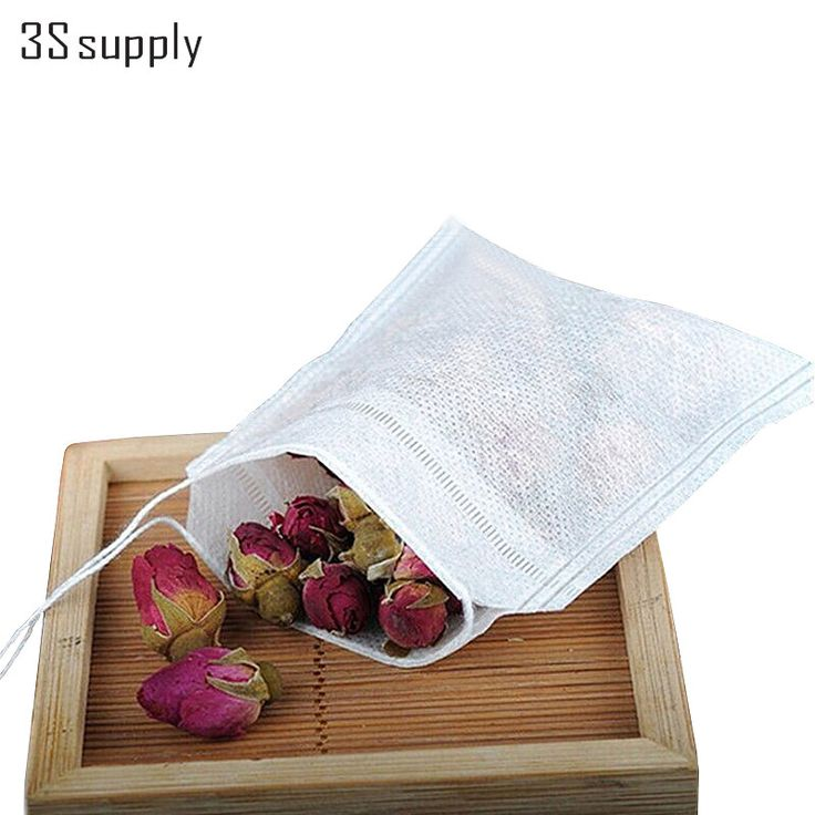 Empty Tea Bags with Strings - 100 Count