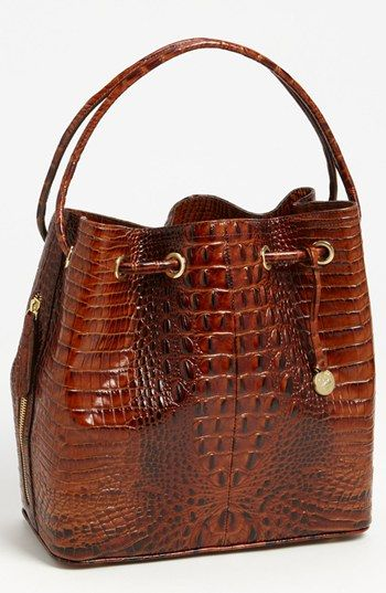 Brahmin 'Trina' Drawstring Tote available at #Nordstrom My new just because I wanted it!