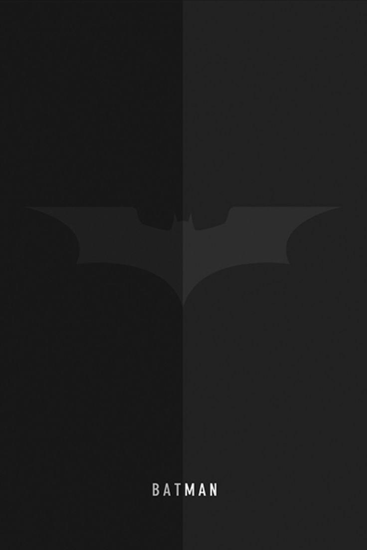 Batman mobile wallpaper minimalist 2560x3840.