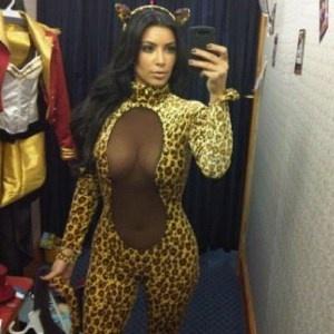 Kim et son déguisement d'halloween