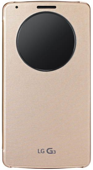 Huse Quick Circle LG G3 gold