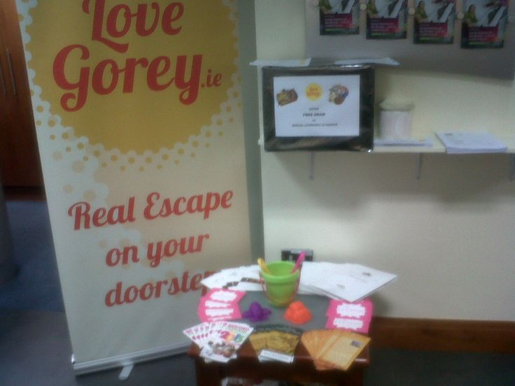 LoveGorey.ie stand recently in the AIB bank